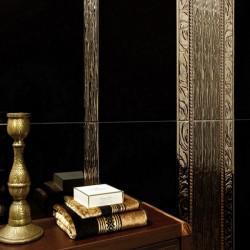 Плочки за баня в златист и черен цвят от Alcalaten (Испания)
