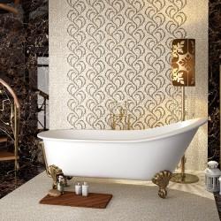 Бели плочки за баня от NEWKER Ceramics (Испания)