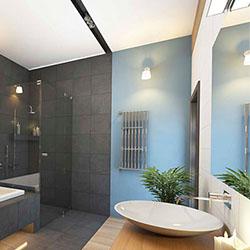 Материална и цветова основа за идеи и декорации за банята