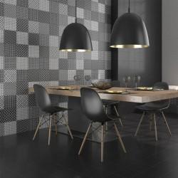 Черно-бели плочки за баня от Cas Ceramica (Испания)