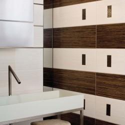 Плочки за баня в бял и кафяв цвят от Aparici (Испания)