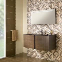 Плочки за баня с фини елементи от Ceramica Latina (Испания)