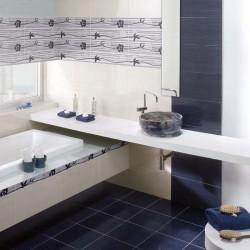 Плочки за баня с цветни мотиви от Ceramica Latina (Испания)