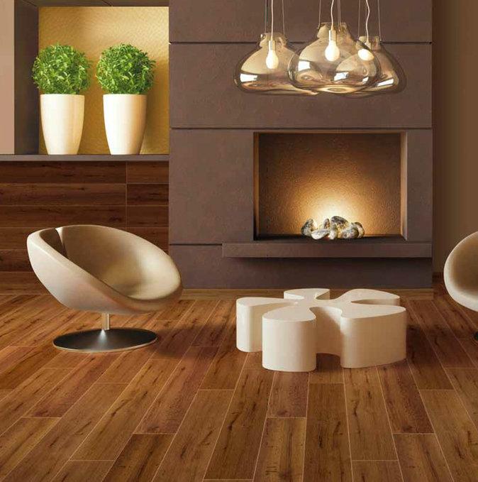 Гранитогрес с дървесен мотив от Ceramiche Gambarelli (Италия)