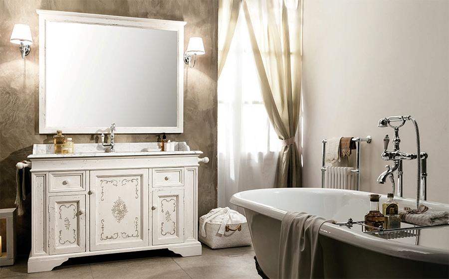 Деликатни италиански мебели за баня от Gaia Mobili (Италия)