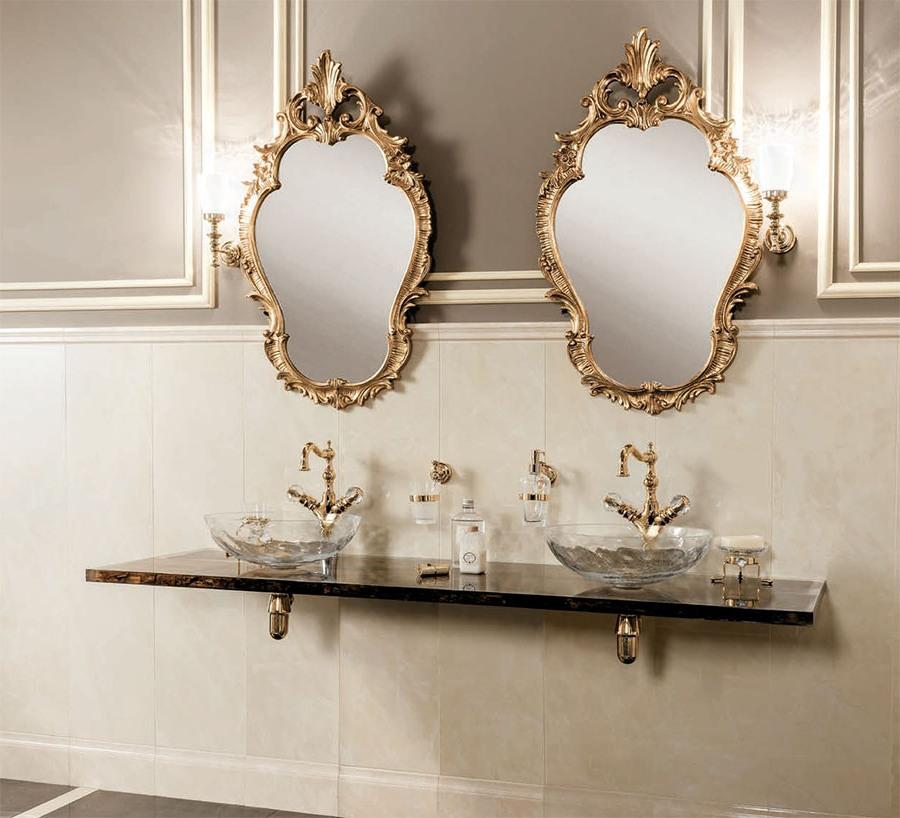Неутрални италиански мебели за баня от Gaia Mobili (Италия)