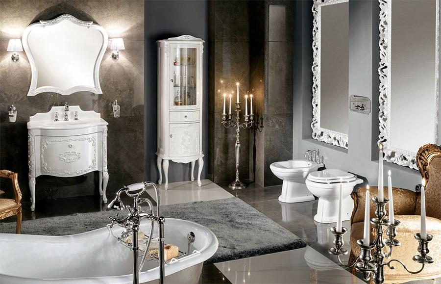 Еклектични италиански мебели за баня от Gaia Mobili (Италия)