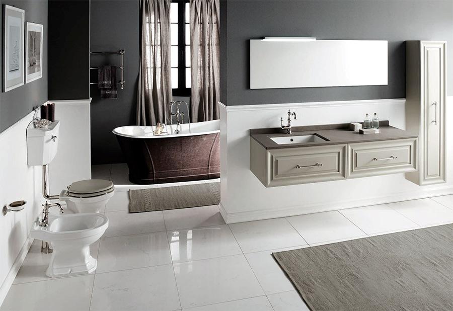 Оригинални мебели за преходна баня