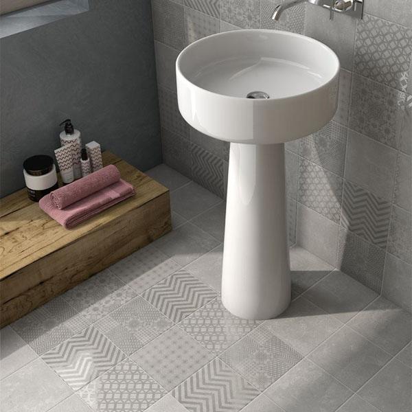 Плочки в индустриален стил за баня от Cas Ceramica (Испания)